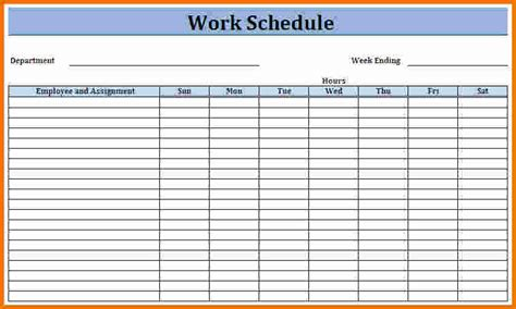 Work Calendar Template work schedule template weekly schedule all form templates