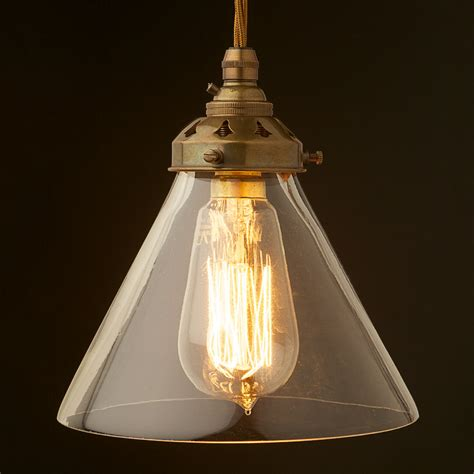 Clear Glass Pendant Light Shade Clear Glass Coolie Lshade Pendant