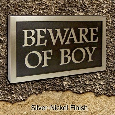 beware the boys beware of dog sign or the boy plaque say what you want to