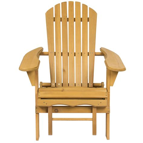 patio chair with pull out ottoman bcp outdoor wood adirondack chair foldable w pull out