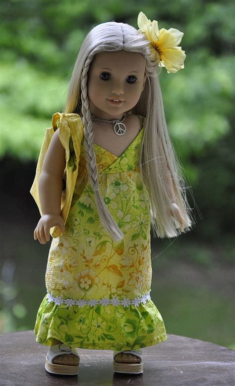 hairstyles for american girl julie american girl doll julie ivy sun dress sandals necklace
