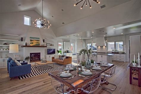 Ordinary Nice Living Room Rugs #8: Open-concept-ranch-homes-dining-room-transitional-with-leather-dining-side-chairs.jpg