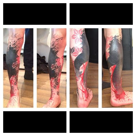 48 best abstract leg tattoos amazing abstract leg best design ideas