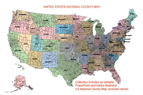 map usa counties usa county world globe editable powerpoint maps for