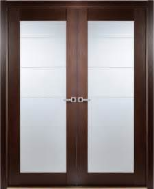 contemporary wenge interior door lined