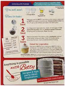 betty crocker chocolate cake mix directions