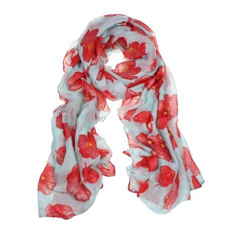 Pashmina Instan Poppy Pop new poppy print scarf flower wrap stole shawl trendy ebay