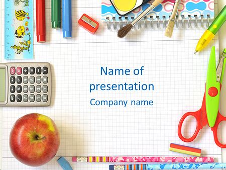 Elementary School Powerpoint Template Backgrounds Id 0000004229 Smiletemplates Com Elementary School Powerpoint Templates