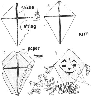 How To Make Simple Kite From Paper - kite for how to make kites