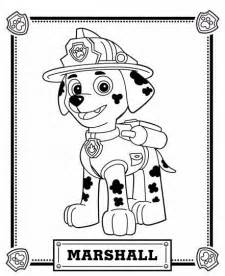 free coloring pages paw patrol marshall