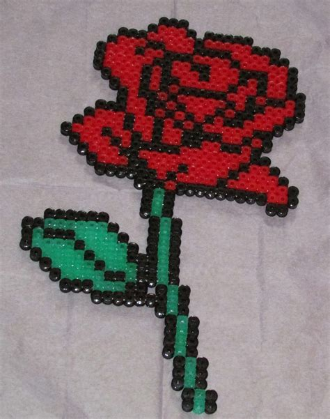bead of roses hama perler by keely jade perler bead designs