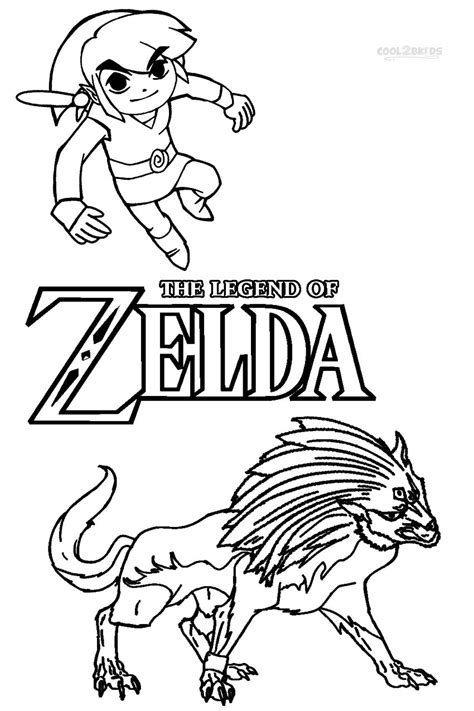 zelda wolf link coloring pages coloring pages