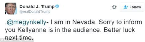 donald trump live tweets vice presidential debate between trump live tweets at megyn kelly during the vice