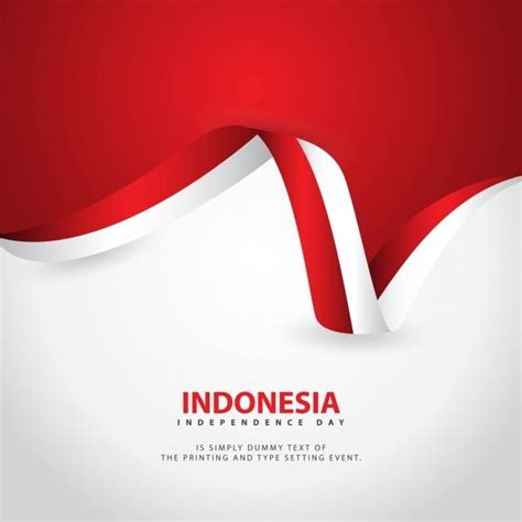 indonesia independence day vector template design