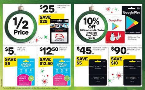 Woolworths Gift Cards 10 Off - expired 10 off sportscraft saba cards and 50 off selected adrenaline skype cards