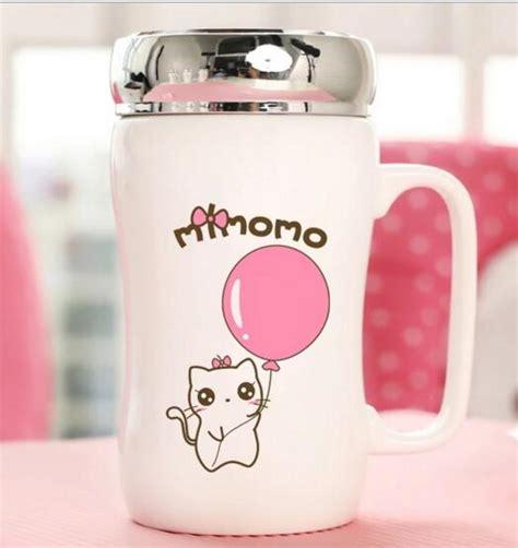 Promo Mug Karakter Hello Pink promotional pink color ceramic mug with metal lid mm wholesale