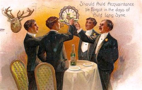 vintage new year songs auld lang syne an illustrated song sing books with