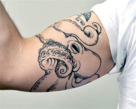 octopus forearm tattoo octopus around the arm