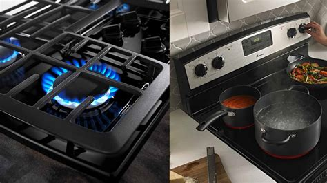 differences  cooking  electric  gas