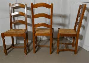 Set 8 French Ladder Back Country Oak Dining Chairs Ladder Back Dining Chairs Country