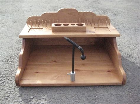 fly tying bench modern diy wood projects homemade fly tying bench mini