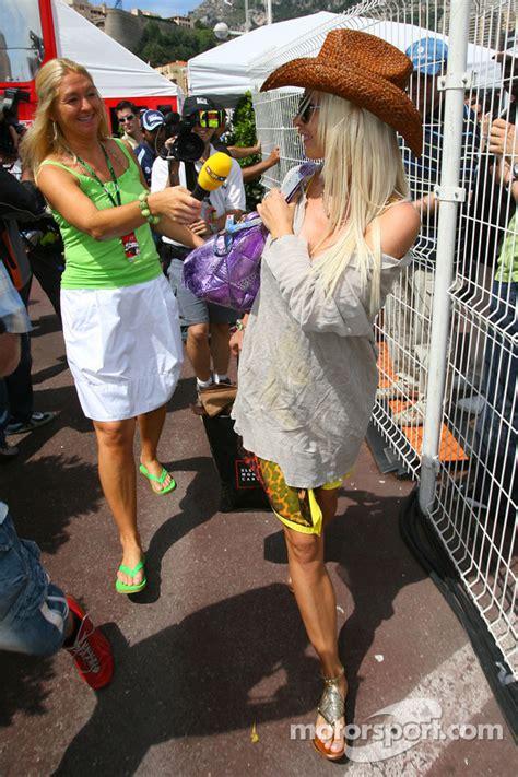 Cora Schumacher At Monaco Grand Prix With Marc Bag by Cora Schumacher Femme De Ralf Schumacher Grand Prix De