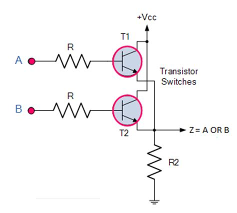 transistor or gate explain logic or gate and its operation with table electronics post