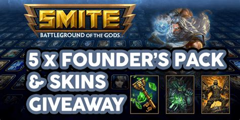 Smite Codes Giveaway - win one of five smite founder s pack skins codes