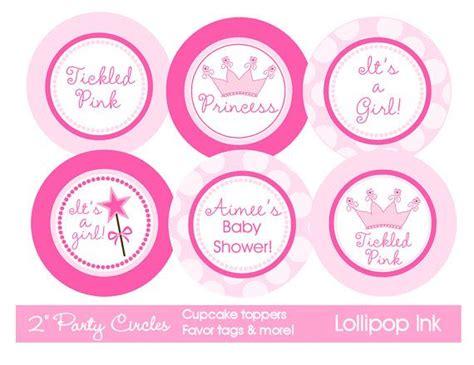 free printable crown cupcake toppers pink princess printable party circles diy pink princess
