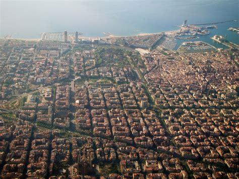 barcelona aerial view barcelona downtown barcellona vista dall alto aerial