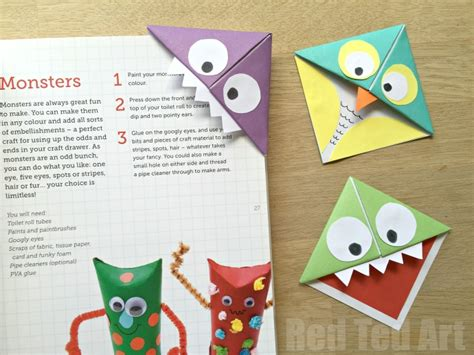 Corner Bookmark Origami - corner bookmarks and owls ted s