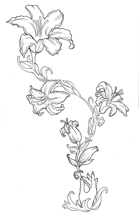 flower tattoo outline designs images designs