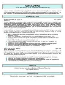 Buyer Resume Objective by Exle Buyer Resume Free Sle