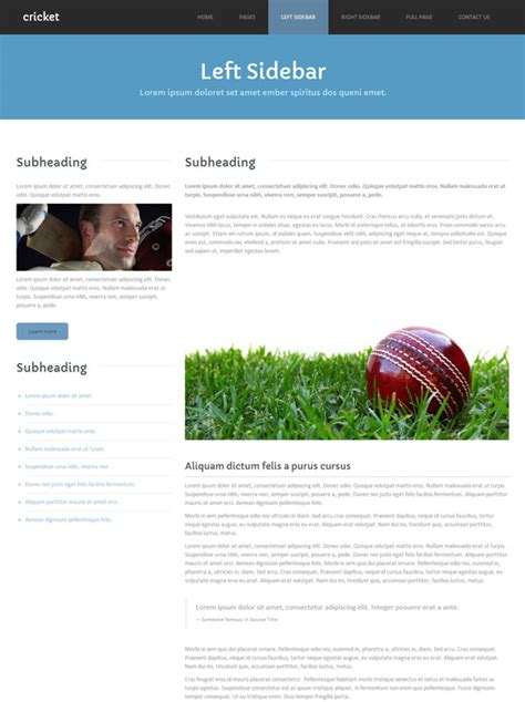 templates for cricket website cricket site template cricket website templates