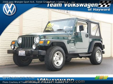 Forest Green Jeep Forest Green Pearl 2000 Jeep Wrangler Sport 4x4 Camel