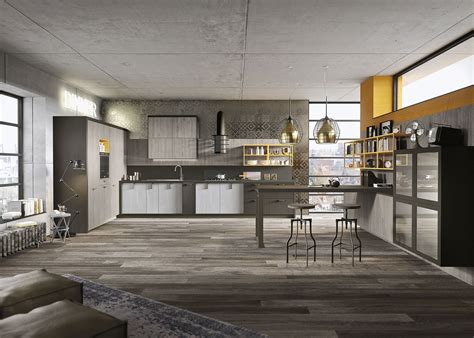 Island Kitchens Designs kitchen design for lofts 3 urban ideas from snaidero