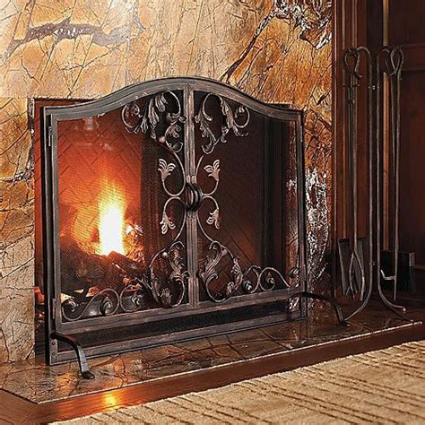 Toscana Fireplace Screen Oversized Traditional Oversized Fireplace Screens