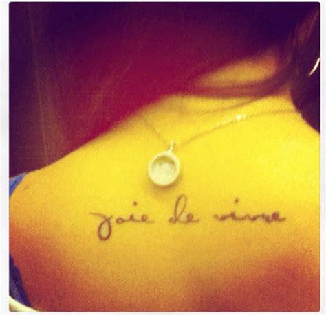 joie de vivre tattoo backs tattoologist
