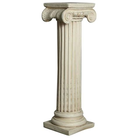style plaster pedestal or column with chapiteau in