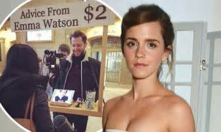 emma watson fan mail emma watson gives virtual advice to fans in nyc for 2