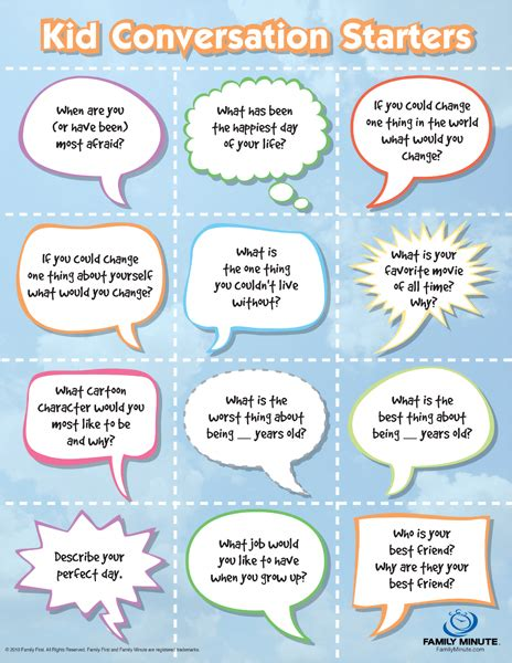 8 best images of printable family discussion family