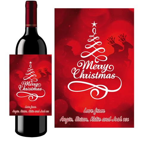 printable christmas wine labels personalised christmas prosecco wine bottle label 022