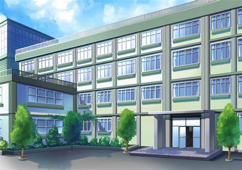 anime school background comission school background by wanaca on deviantart