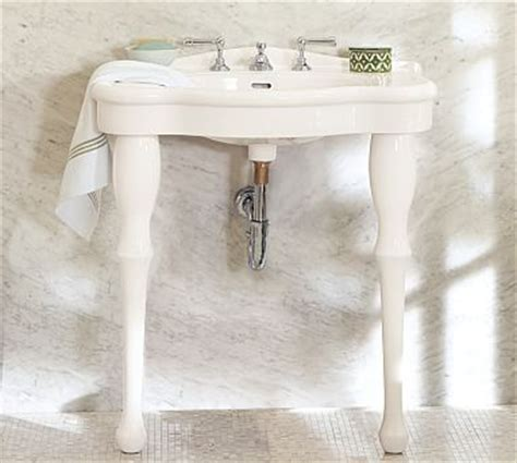 pottery barn bathroom sinks parisian pedestal single sink console pottery barn