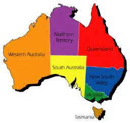 Map Of Australian States by Australia State And Territory Map