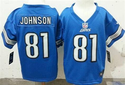 youth blue calvin johnson 81 jersey valuable p 175 nike detroit lions 81 calvin johnson light blue toddlers