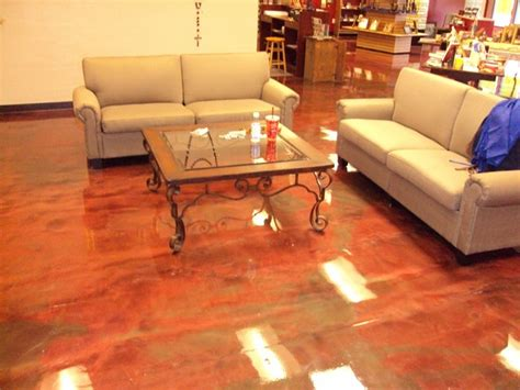metallic epoxy floor coating rustic living room