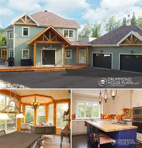 ranch farmhouse plans the rustic custom ranch designed by drummond house plans