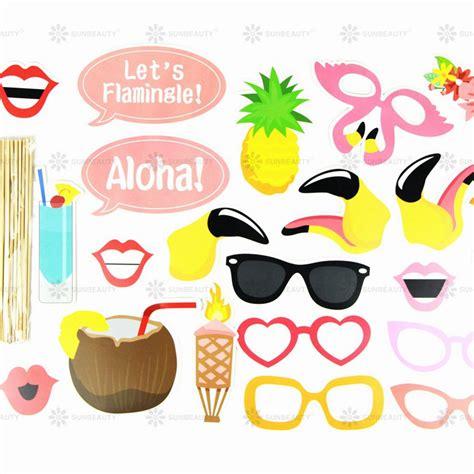 printable luau photo booth props printable hawaiian photo booth props beach luau hawaiian