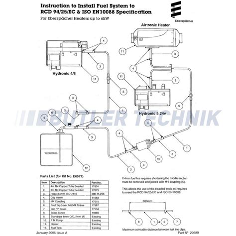 wiring diagram eberspacher d5w hvac diagrams wiring